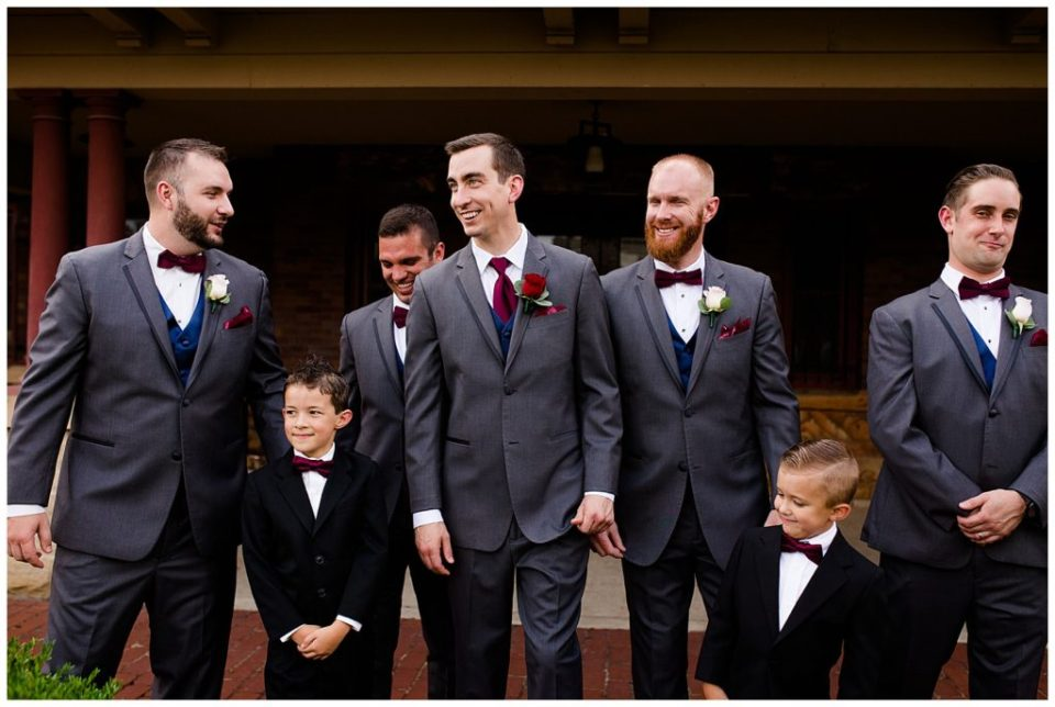 groom and groomsmen walking at station 67