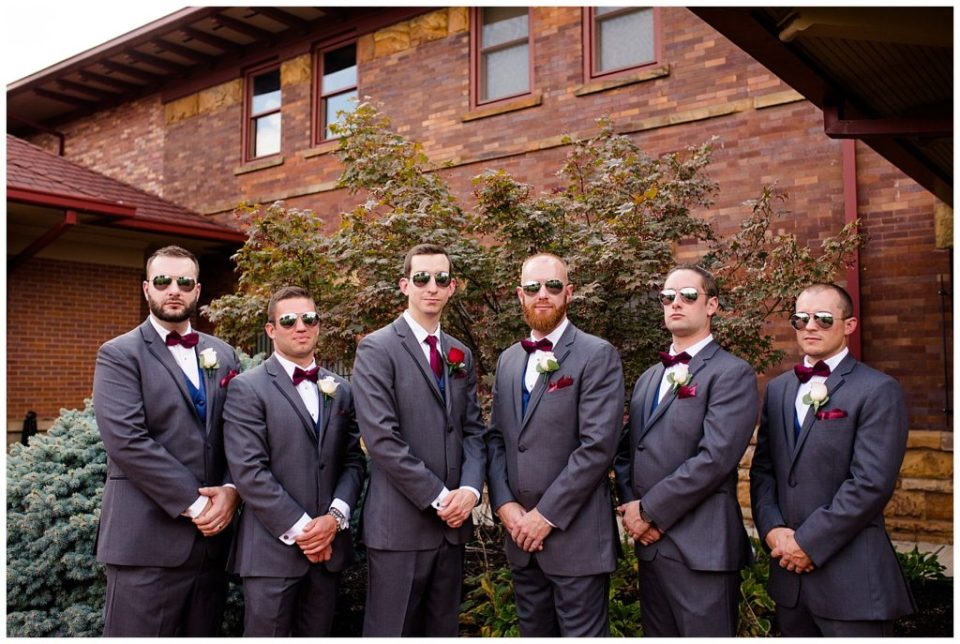 groom and groomsmen wearing sunglasses at station 67
