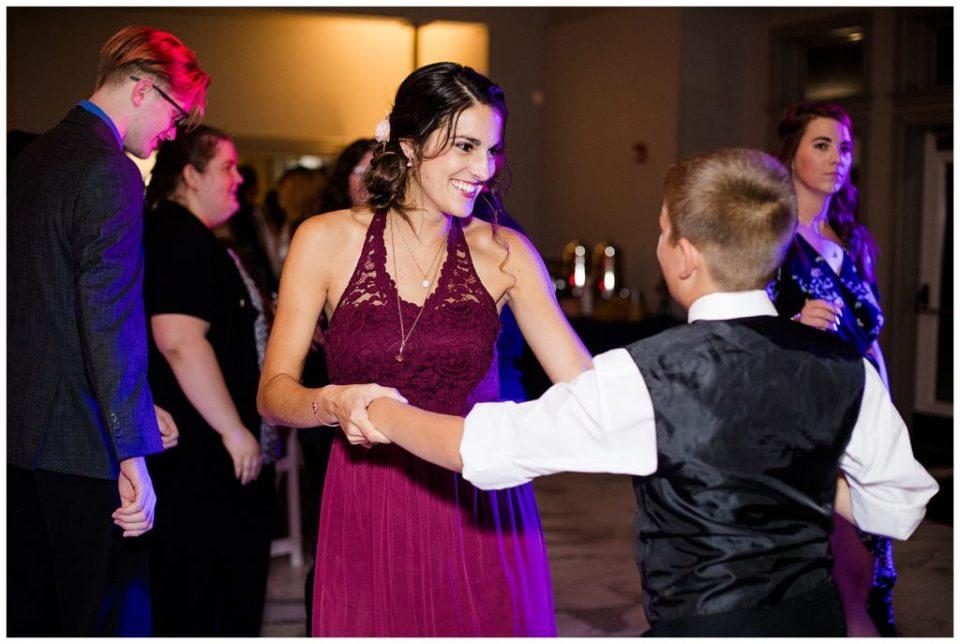 bridesmaid dancing at station 67