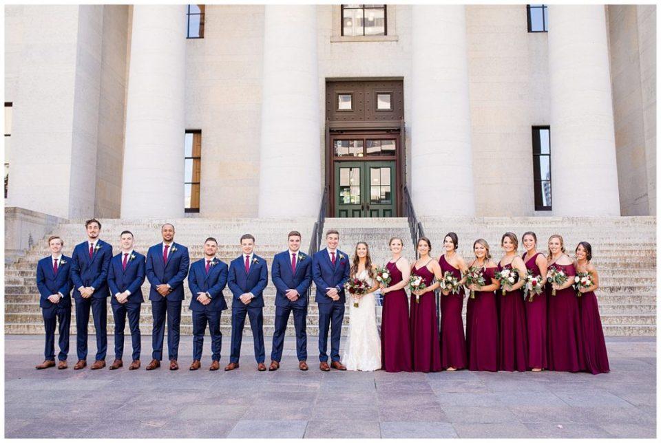 bridal party outside ohio statehouse