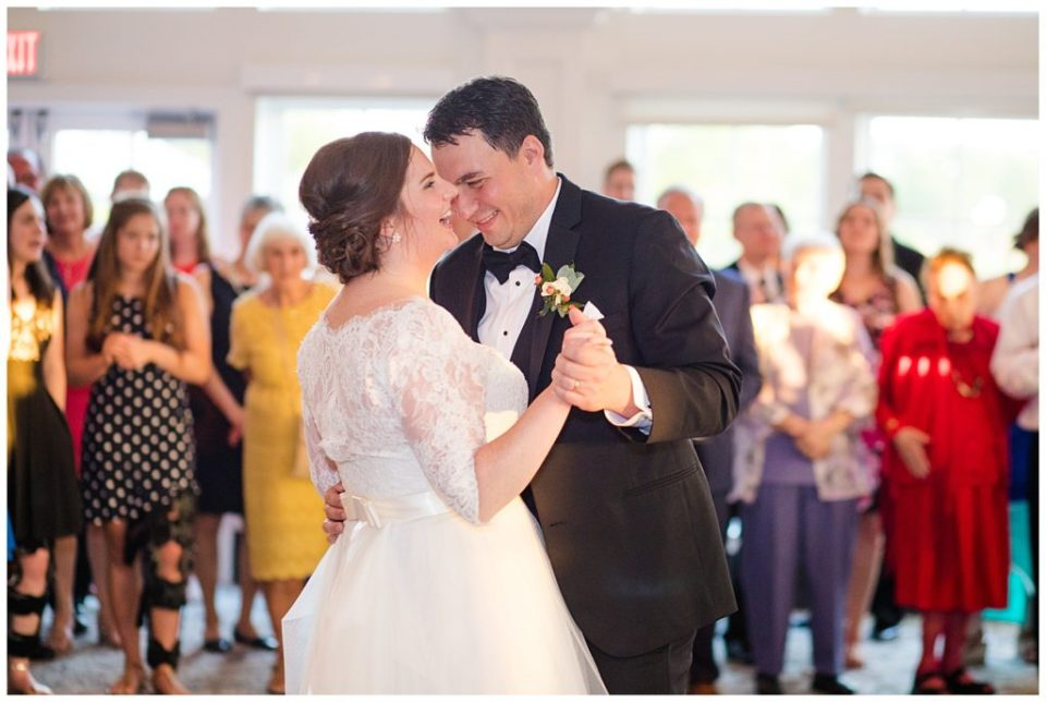 bride and groom share first dance at nationwide hotel and conference center