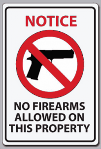 No Firearms Sgin