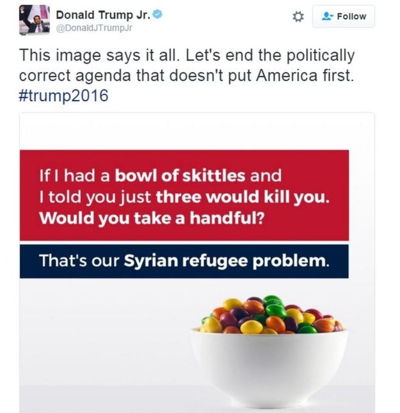 Donald Trump skittles tweet