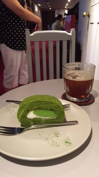Matcha Roll Cake + Beer Coffee
