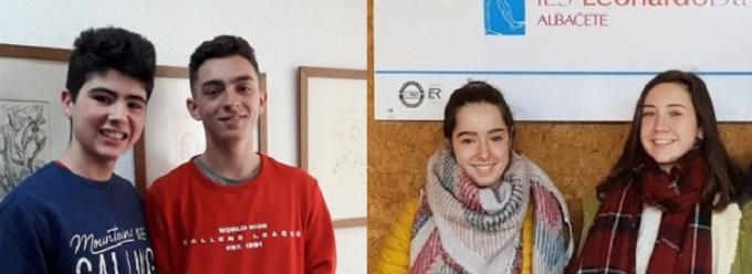 Mario, Álvaro, Miriam e Irene: cuatro estudiantes albaceteños que vivirán un experiencia inolvidable