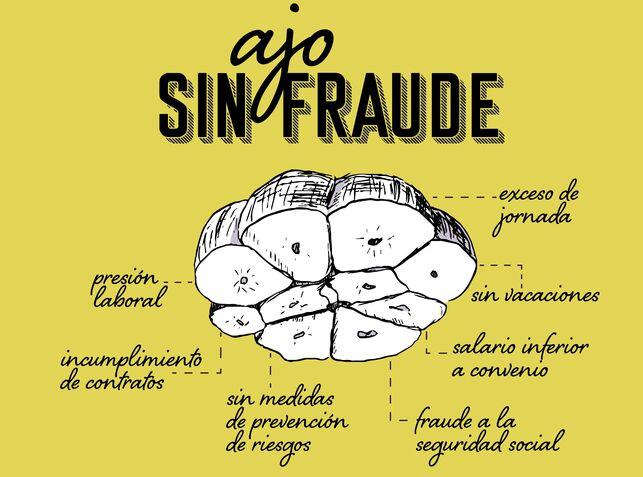 """Piden sanciones """"ejemplarizantes"""" contra el fraude laboral en el sector del ajo"""
