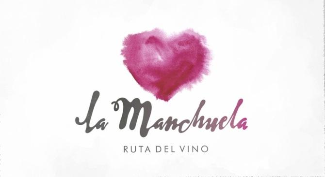 Un corazón envero dibuja la imagen turística de 'La Ruta del vino de La Manchuela'