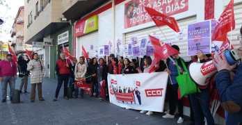 Los trabajadores de supermercados DÍA paran contra el ERE que dejará más de 120 despidos en Albacete