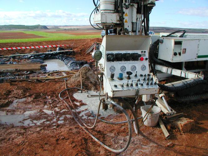 Imagen: ATC- Sondeos de caracterización del terreno./ ENRESA.