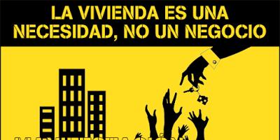 Vivienda es necesidad no negocio, cartel - torreviejadigital.blogia.com
