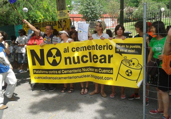 protesta plataforma contra cementerio nuclear cuenca