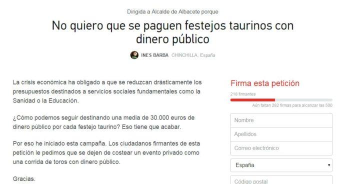 peticion alcalde