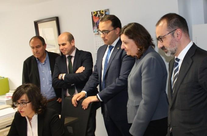 Patricia Franco visita Área de Negocio de Globalcaja