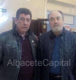 Raúl Cordero y Francisco Acosta, este lunes en Albacete.