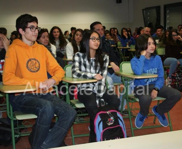 Algunos de los alumnos que han participado en el cortometraje.