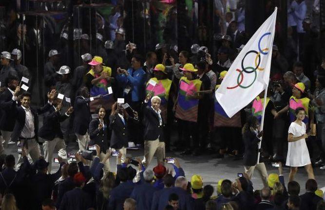 Desfile bajo bandera COI