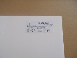 Kaschierte Hartschaumplatte (3 mm)