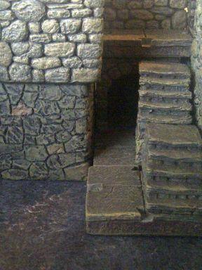 Treppe zur Großen Halle und Küche, Seitengang zur Schatzkammer