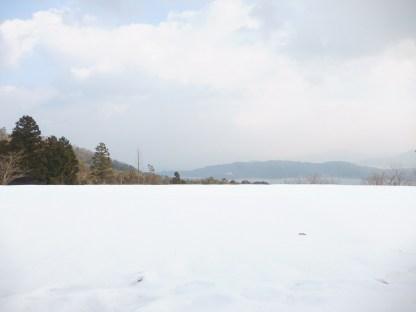 Salju di dekat pagoda (2)
