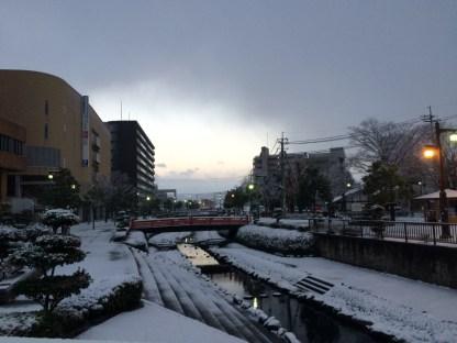 Salju dekat Tottori Station (3)