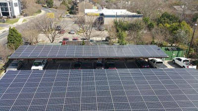Commercial Solar Panel Install Victory Medical Austin Texas-2
