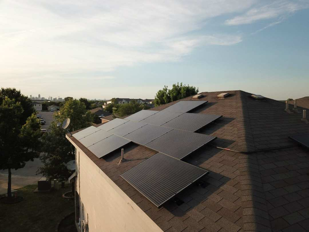 4 Kw Solar Panel Installation In South Austin Texas Alba Energy House Wiring Home Install