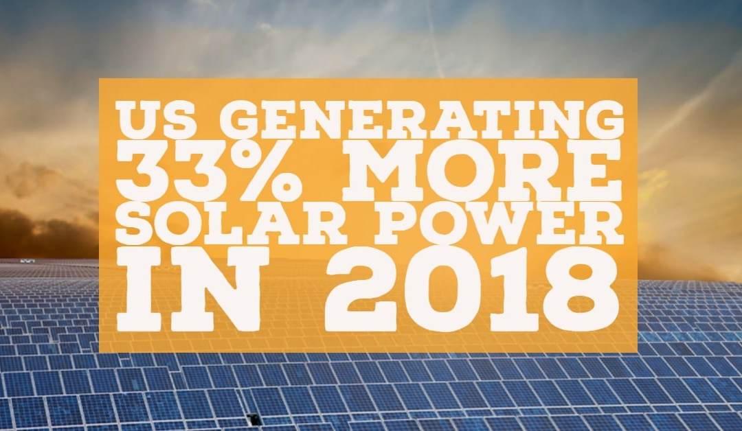 U.S. Generating 33% More Solar Power In 2018