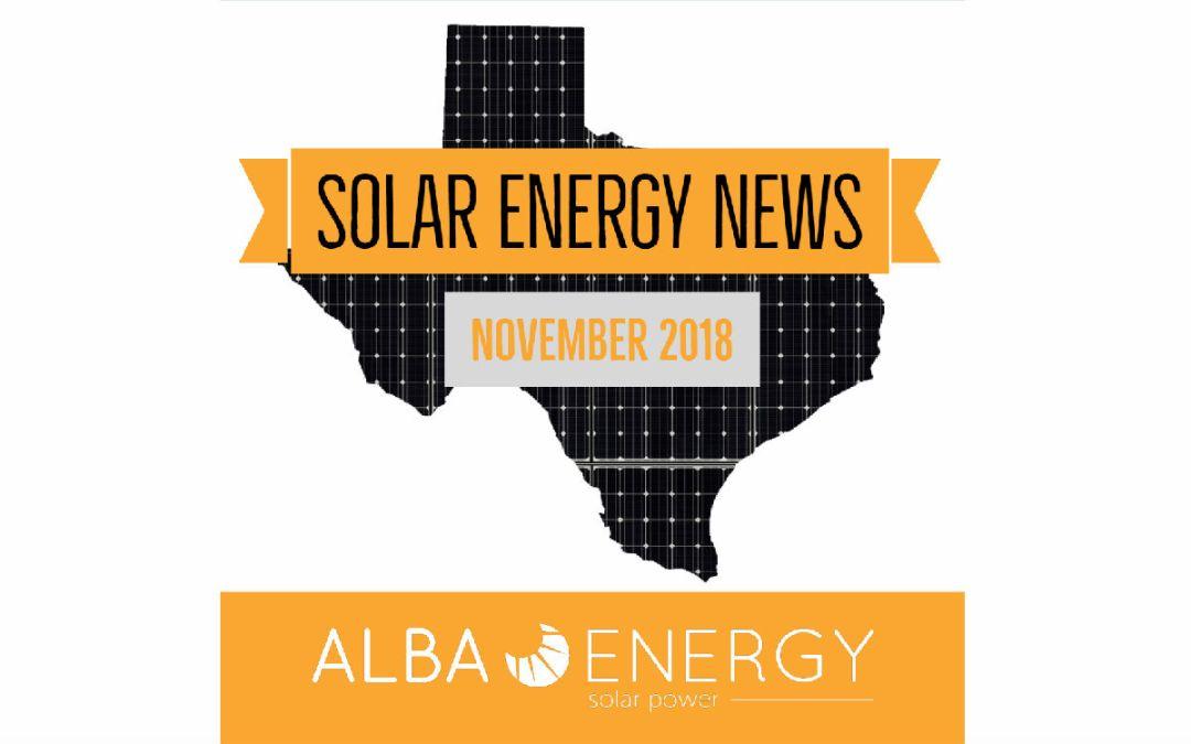 Texas Solar Energy News – November Edition