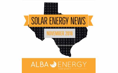Texas Solar Energy News – November Edition