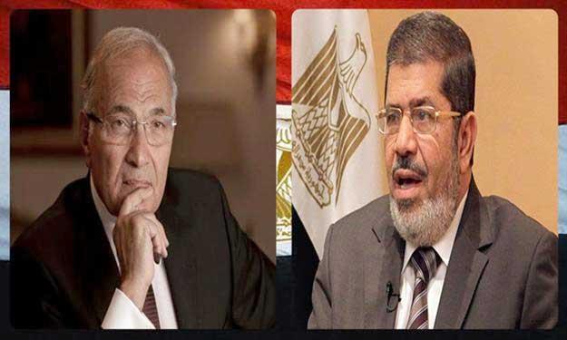 المتنافسان في جولة الإعادة : محمد مرسي وأحمد شفيق