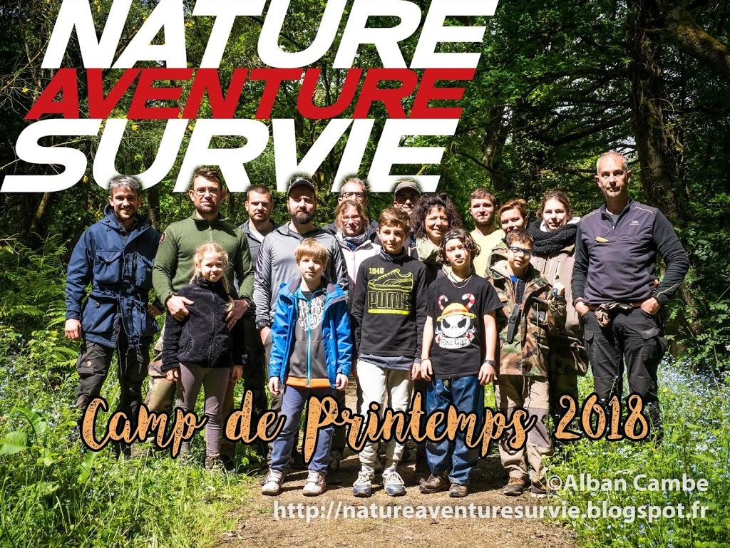 Stage de Bushcraft – camp de printemps 2018