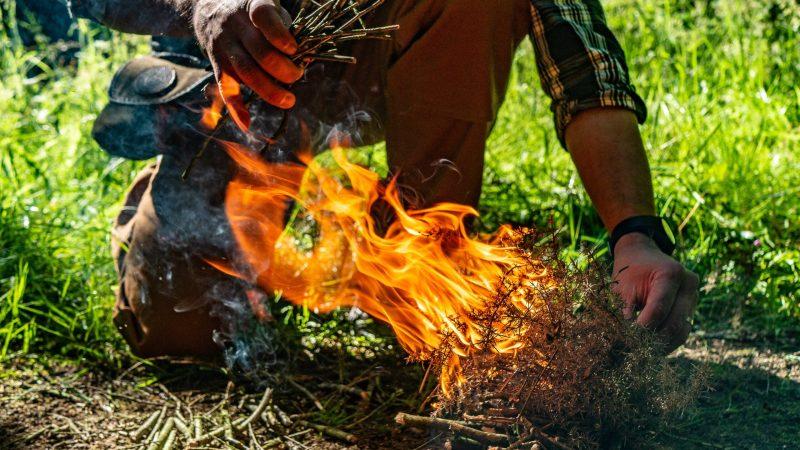 Allumer un feu en forêt : ressources et respect en Bushcraft