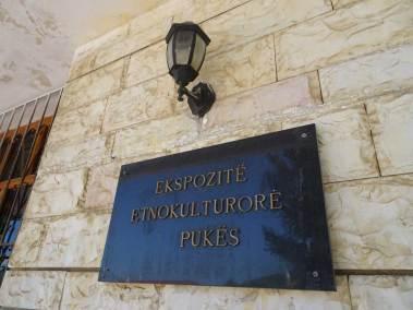 Le panneau d'entrée du Musée ethnographique.