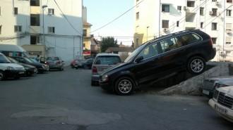 Creative parking in Tirana
