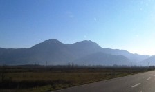 On the way to Tirana