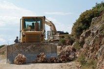 Strassenbau an der albanischen Riviera