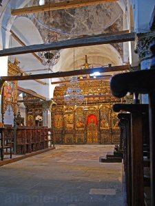 Inneres der Marienkathedrale /Onufrimuseum in Berat