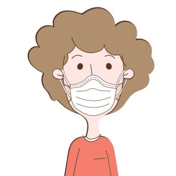 Corona Mann mit Maske