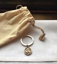 Albany Club Silver Key Chain