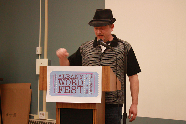 Ed Rinaldi at the 2012 Albany Word Fest Open Mic