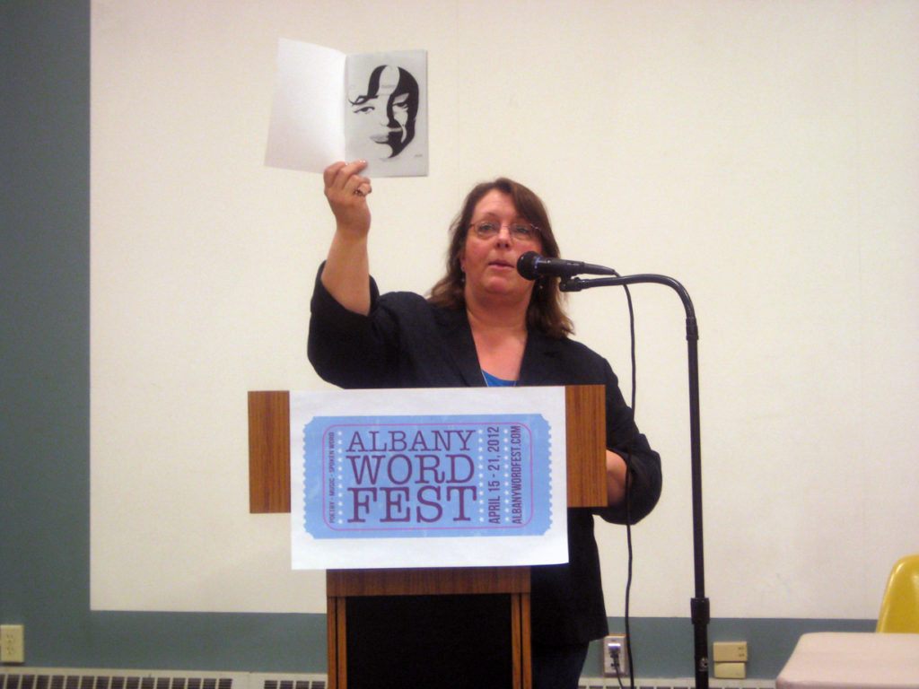 Cheryl Rice at the 2012 Albany Word Fest Open Mic