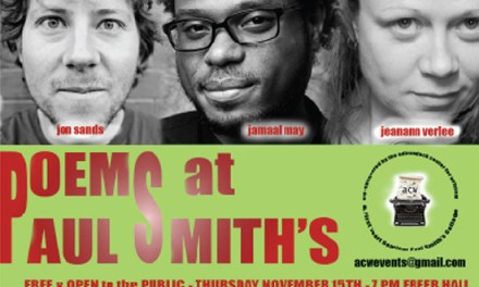 Poetry at Paul Smith's Featuring Jon Sands, Jeanann Verlee, and Jamaal May