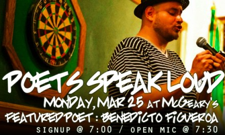 Poets Speak Loud with Featured Poet Benedicto Figueroa
