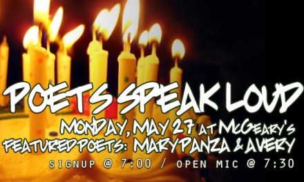 Poets Speak Loud Double Feature with Mary Panza and Avery