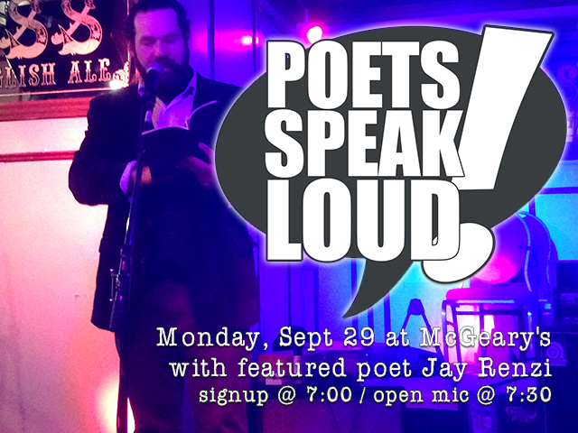 Poets Speak Loud Featuring Jay Renzi