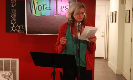 Teresa Costa and Lauren Camp at the College of Poetry