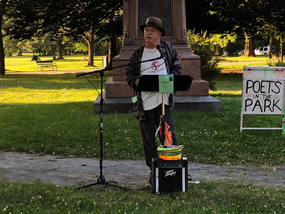 Dan Wilcox at Poets in the Park in Albany's Washington Park