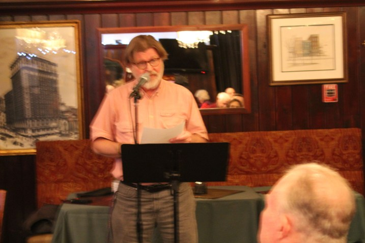 Tom Bonville at Poets Speak Loud, September 30, 2019