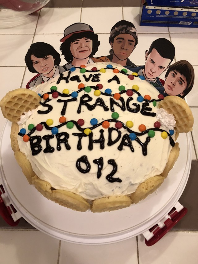 12Th Birthday Cake Stranger Things Birthday Cake Just Made This For My Daughters 12th