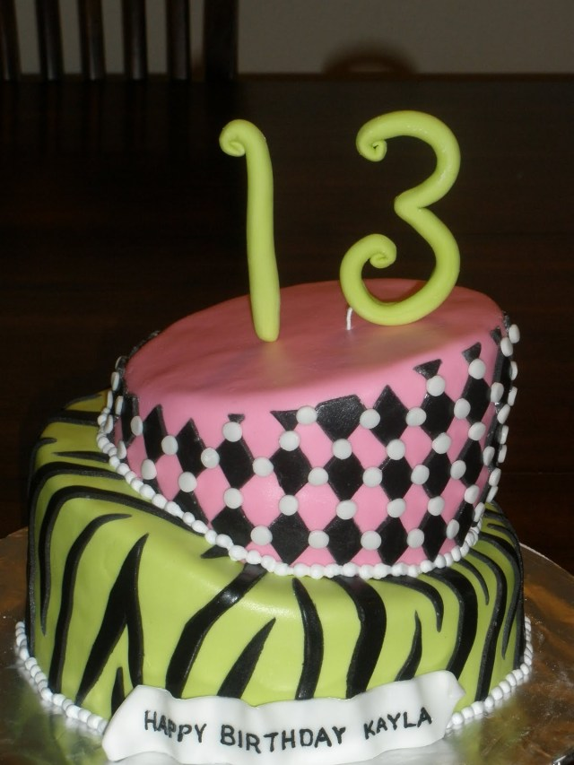 13 Birthday Cake 13th Birthday Cake Ideas For Girls 719 Classic Style 13th